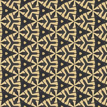 Geometrisch blokpatroon met dieptewerking van Rietje Bulthuis