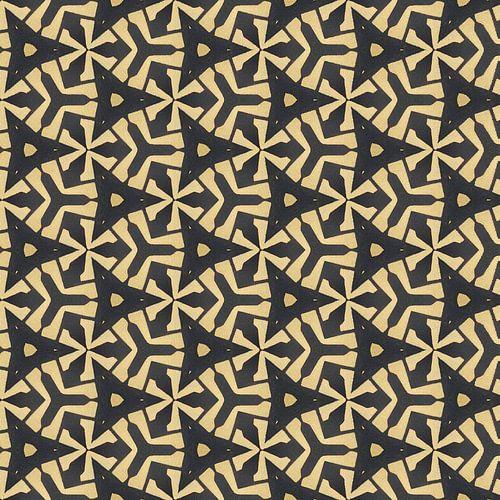 Geometrisch blokpatroon met dieptewerking