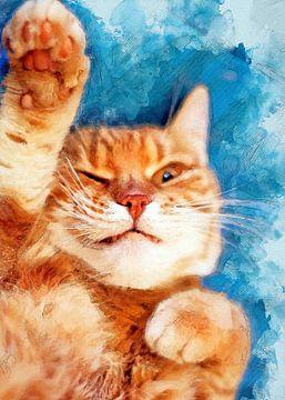 Katze 13 Tiere Kunst #Katze #Katzen #Kätzchen von JBJart Justyna Jaszke