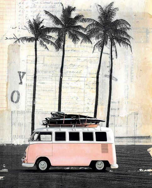 Van und Palme von Nora Bland