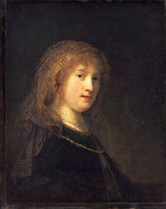 Rembrandt van Rijn, Saskia van Uylenburgh, de vrouw van de kunstenaar van