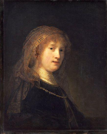 Rembrandt van Rijn, Saskia van Uylenburgh, de vrouw van de kunstenaar van Rembrandt van Rijn