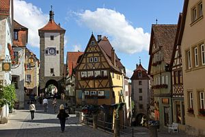 stadsbeeld van Rothenburg ob der Tauber