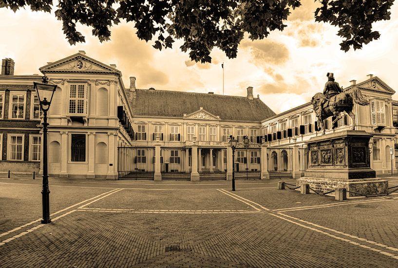 Palast Noordeinde Den Haag Niederlande Sepia von Hendrik-Jan Kornelis