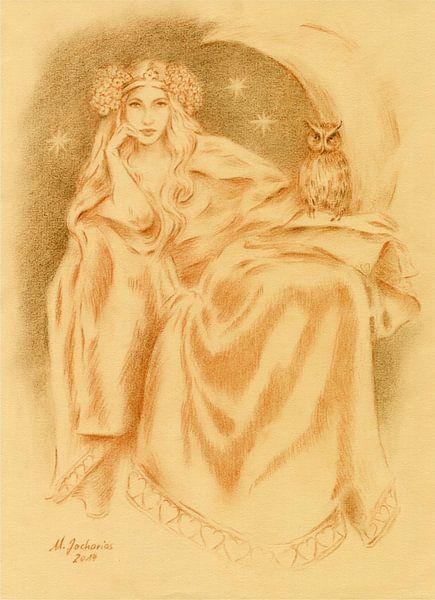 Lilith godin van de Sumerische mythologie van Marita Zacharias