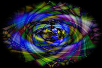 Bloem Lijnenspel van strepen van Fotografie Sybrandy