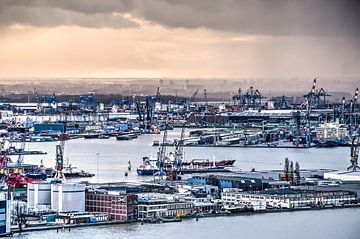 Waalhaven Rotterdam van Frans Blok