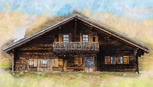 Chalet in Zwitserland van Bert Koppe