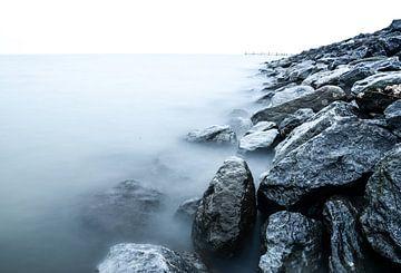 het tulpeneiland in Zeewolde in wintertijd van Robin van Maanen