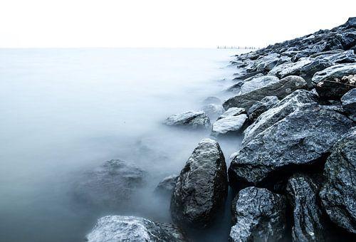 het tulpeneiland in Zeewolde in wintertijd