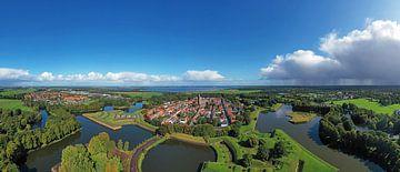 Lucht panorama van Naarden Vesting in Nederland van Nisangha Masselink
