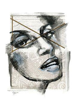 Gekruiste ogen van ART Eva Maria