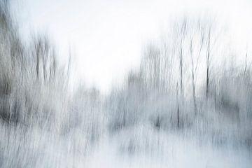 Een abstract landschap in de sneeuw - 14 van Danny Budts