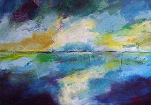 abstrakt landschap van