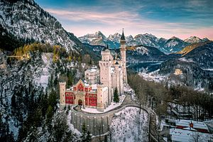 Schloss Neuschwanstein Bayern im Winter von Thilo Wagner