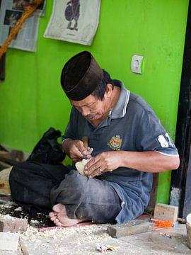 Wajang poppenmaker, Bandung van Kees van Dun