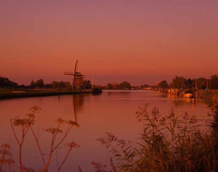 Cruquius bij zonsondergang van SoGo Fotografie