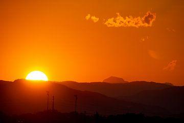 Coucher de soleil en Toscane sur Dennis Eckert
