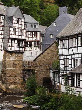 Monschau in de Eifel 3 van Jörg Hausmann