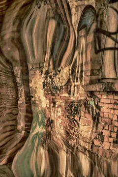 Weerspiegelde graffiti van Arina Keijzer