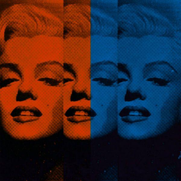 Marilyn Monroe Neon Vintage Colourful Pop Art PUR von Felix von Altersheim