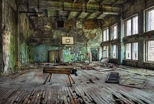 Ukraine, Tschernobyl. Sporthalle.