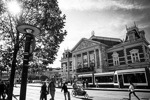 Concertgebouw Amsterdam zwart-wit van