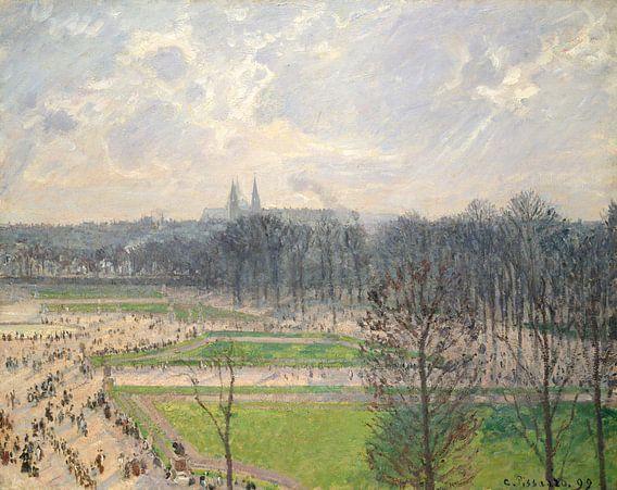 De tuin van de Tuileries op een Middag van de winter, Camille Pissarro van Meesterlijcke Meesters