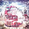 City-Art LONDON Red Buses on Westminster Bridge van Melanie Viola thumbnail
