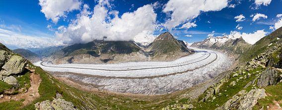 Aletsch gletsjer panorama van Dennis van de Water