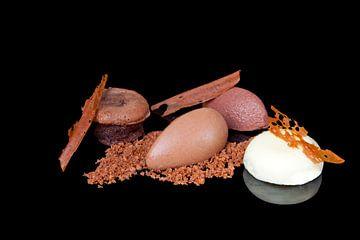 Tricolore van chocolade von