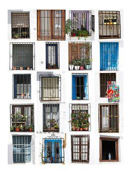Raamvensters Spanje van Marlies Laenen