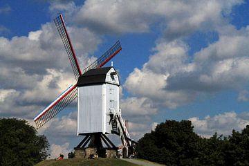 Mühle in Brügge von Gert-Jan Siesling