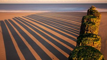 Streifen im Sand von Ard Jan Grimbergen