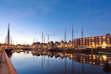 Harlingen, Hafen am Abend von Pier de Haan