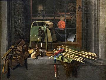 Stillleben von Jagd- oder Geflügelkleidung, Cornelis Norbertus Gysbrechts