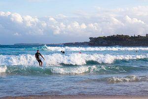 Surfer on the waves van