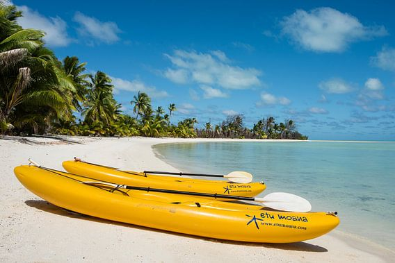 Kajakken in paradijs, Aitutaki van Laura Vink