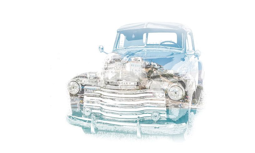 Old truck van Art of Johan Schulte