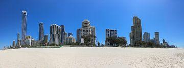 Skyline der Stadt Gold Coast in Queensland, Australien von Marcel van den Bos