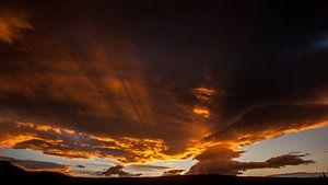 Clouds above Iceland van
