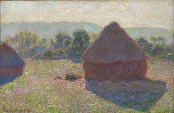 Grainstacks im Sonnenlicht, Mittag 1891, Claude Monet