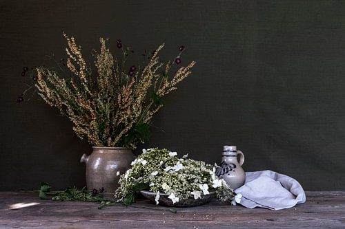 groen stilleven 'wilde lente'