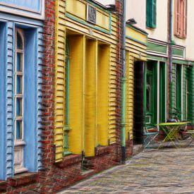 une rue joyeuse van Yvonne Blokland