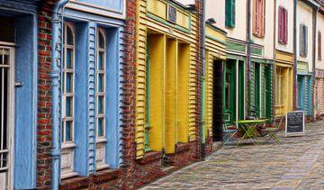 une rue joyeuse sur Yvonne Blokland