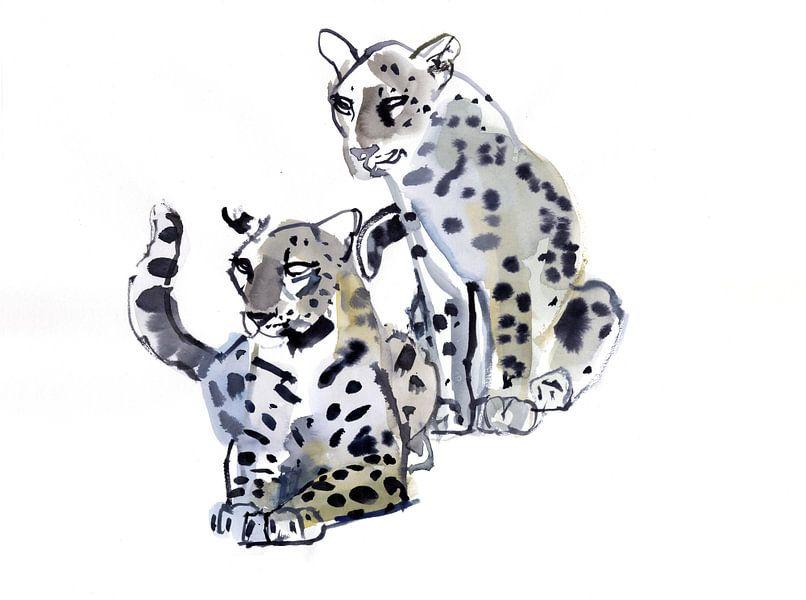 Zwei männliche Leoparden von Mark Adlington