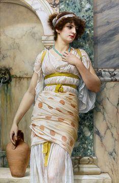 John William Godward, By the Fountain - 1893 von Atelier Liesjes