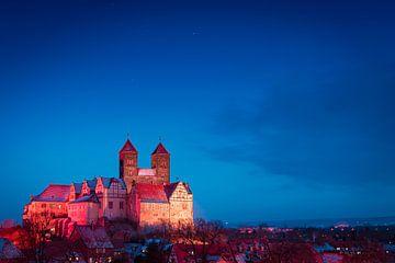 Kasteel in Quedlinburg van Martin Wasilewski