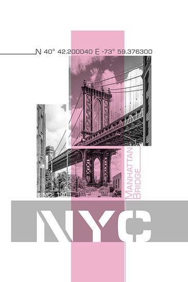Poster Art NYC Manhattan Bridge
