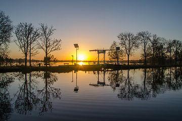 Lever de soleil à Reeuwijkse plassen sur Rinus Lasschuyt Fotografie